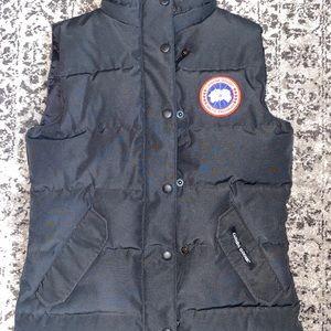 Black Canada Goose Vest
